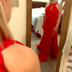 *Brand New* Red Open back gown size 6